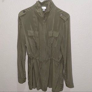 Decree olive color military shirt/jacket